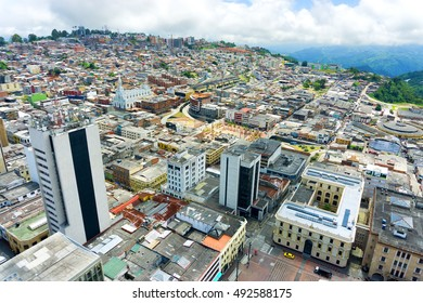 Beautiful cityscape view of Manizales, Colombia