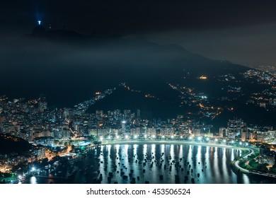 Beautiful cityscape view of Rio de Janeiro with Christ Redeemer, Rio De Janeiro, Brazil