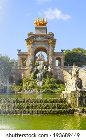 beautiful ciutadella park in the city of barcelona