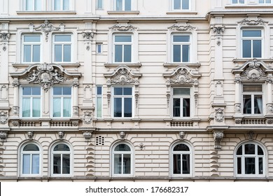 Beautiful classic facade of a building in Schanzenviertel, Hamburg, Germany