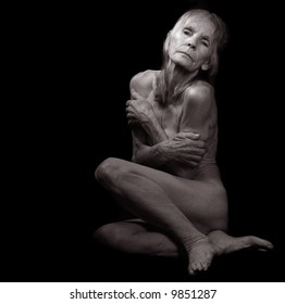 Beautiful Classic Portrait of a nude 85 year old woman
