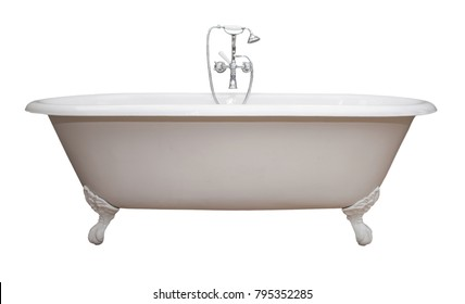 clawfoot baby bath tub. Beautiful classic style white claw foot bathtub with stainless steel old  fashioned faucet and sprayer Bath Tub Images Stock Photos Vectors Shutterstock
