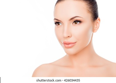 Beautiful clean healthy woman after spa treatment