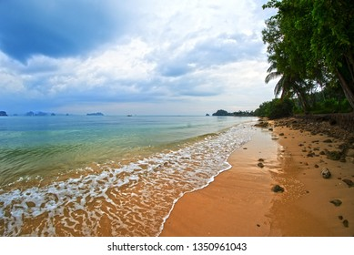 Beautiful clean lonely beach in Koh Yao Noi, Thailand, Asia - Klong Jark Beach