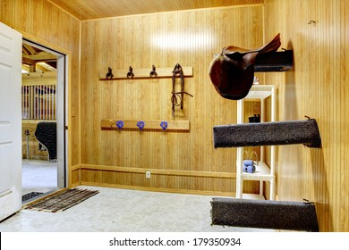 Beautiful clean stable horse barn. Storage room.