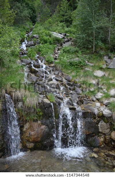 Beautiful clear waterfall