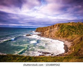 Beautiful Cliffs and Coastline of Crackington Haven Cornwall