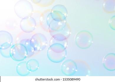 Beautiful clolorful soap bubbles background