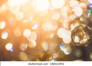 beautiful close up crystal chandelier light with filter effect background