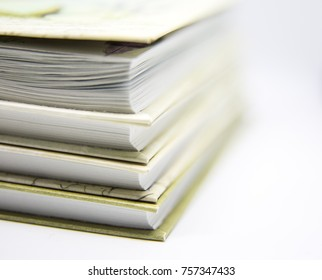 A beautiful closeup of a book. Stack of books. Shallow depth of field photo.