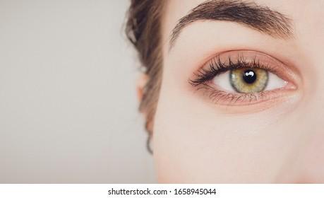 beautiful close-up shot of woman eye - Shutterstock ID 1658945044