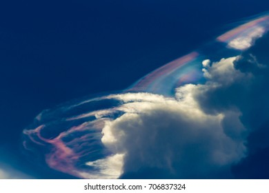 Beautiful Cloud Blue Sky. Blurred rainbow clouds,Blurred abstract color for background.