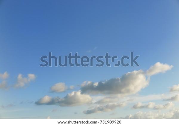 Beautiful cloud pattern on the sky