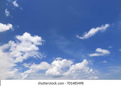 Beautiful cloud pattern in the sky