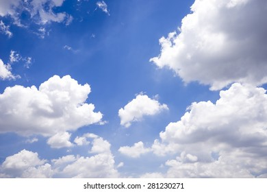 Beautiful clouds and blue sky.