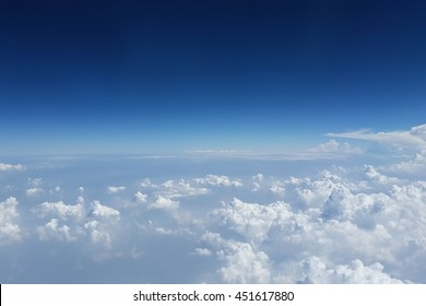Beautiful clouds and blue sky background.