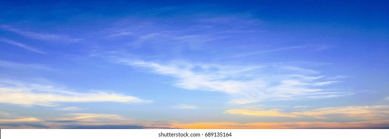 Beautiful clouds with blue sky background. Nature weather, cloud blue sky and sun