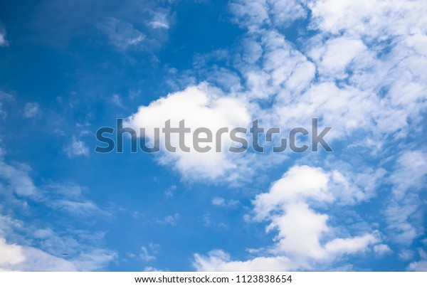Beautiful Clouds Blue Sky Background Nature Stock Photo (Edit Now