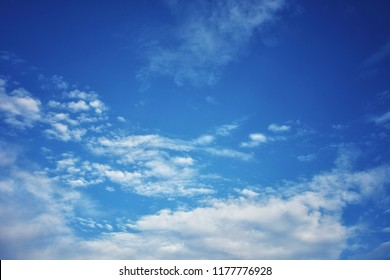 Beautiful clouds blue sky in morning