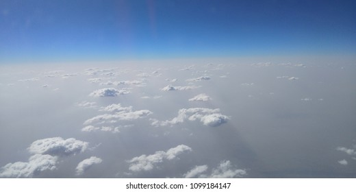 Beautiful clouds cliked at 35000F.All cluds in sequence