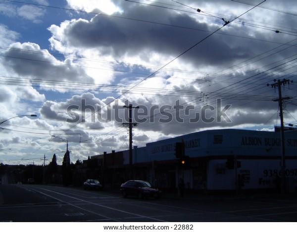 Beautiful clouds high above. Australia Melbourne