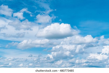 Beautiful clouds movement on the sky.
