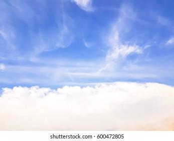 a beautiful clouds on blue sky