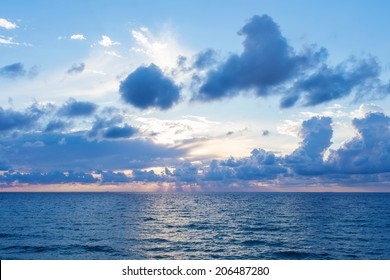 Beautiful clouds over the sea