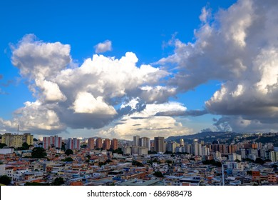 Beautiful Clouds Resting over Caracas City