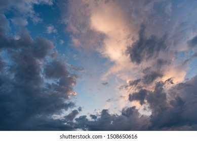 Beautiful clouds in the sky background texture.