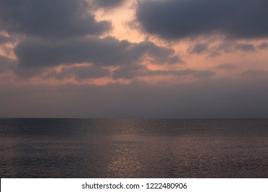 Beautiful clouds in the sky and sea in the early morning at sunrise