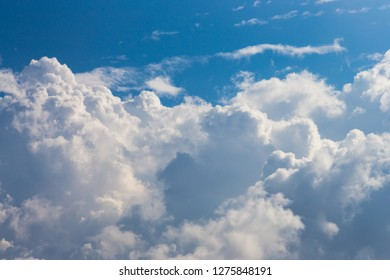 Beautiful clouds and skyline in sunny day