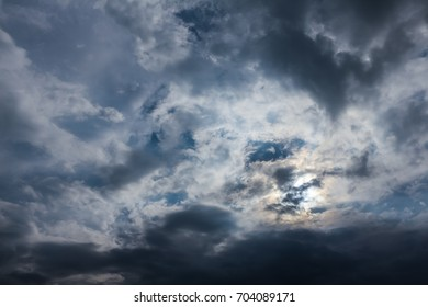Beautiful of clouds at sunset time in summer.