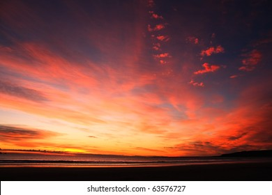 Beautiful cloudscape landscape sunset from the beach