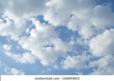 beautiful cloudscape on blue sky background