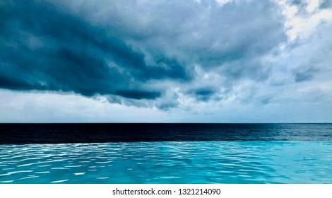 Beautiful Cloudy Day in Fiji Island