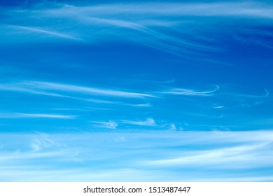 beautiful cloudy landscape with Cirrus clouds on blue sky