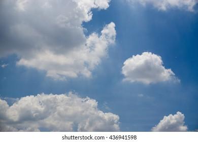 Beautiful cloudy sky backgound