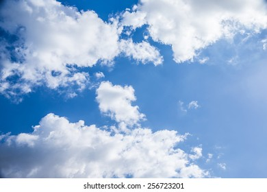 Beautiful cloudy sky background, sunny day, abstract natural backdrop, fresh air, peaceful cloudscape