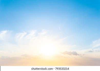 beautiful cloudy sky background at the sunset