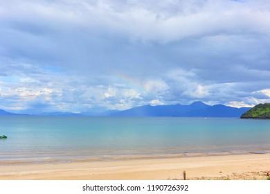Beautiful Cloudy view at Karatsu Bay, Saga Prefecture, Japan