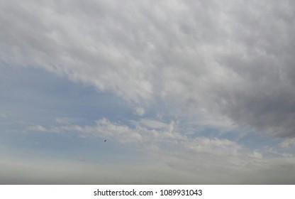 beautiful cluds in sky