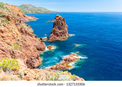beautiful coast in Agay in french riviera, south France