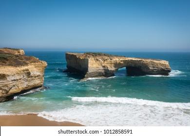 Beautiful coast along Great Ocean Road, Victoria, Australia. Natural landscape view, some famous including Twelve Apostles, Loch Ard, Razorback, The Arch, London Bridge, The Grotto. 4k