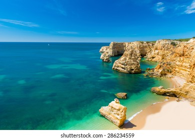 Beautiful coast and beach in Algarve, Portugal
