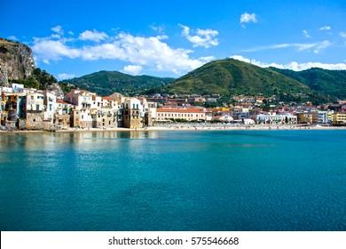 Beautiful coast of Cefalu, Palermo - Sicily