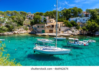 Beautiful coast and harbour of Cala Figuera -  Spain, Mallorca