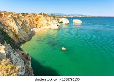 beautiful coast in Lagos, Algarve, Portugal