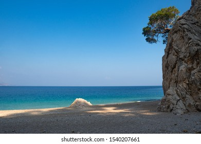 Beautiful coast near Apella beach, Karpathos island,Greece