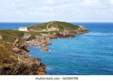Beautiful coast Newquay in Cornwall, England